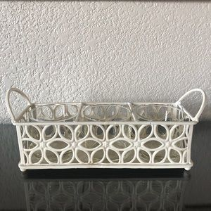 Pier 1 Cream Metal Candle Holder or Planter